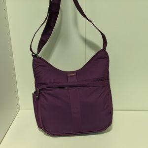 Purple travel purse